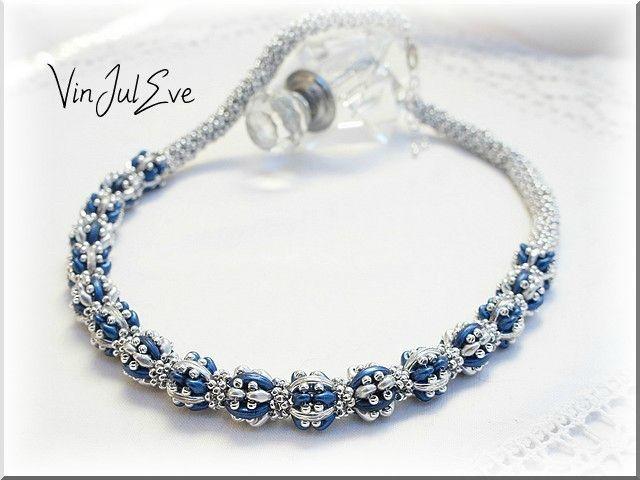 collier Jerichow bleu argent