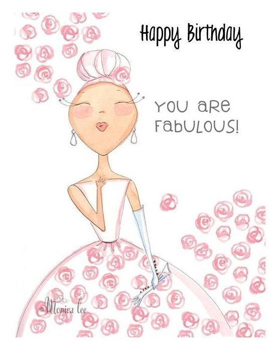 Happy birthday you are fabulous Geburtstag Geburtstagskarte E-Card Whatsapp Facebook Geburtstagsgruß Girly Mädels