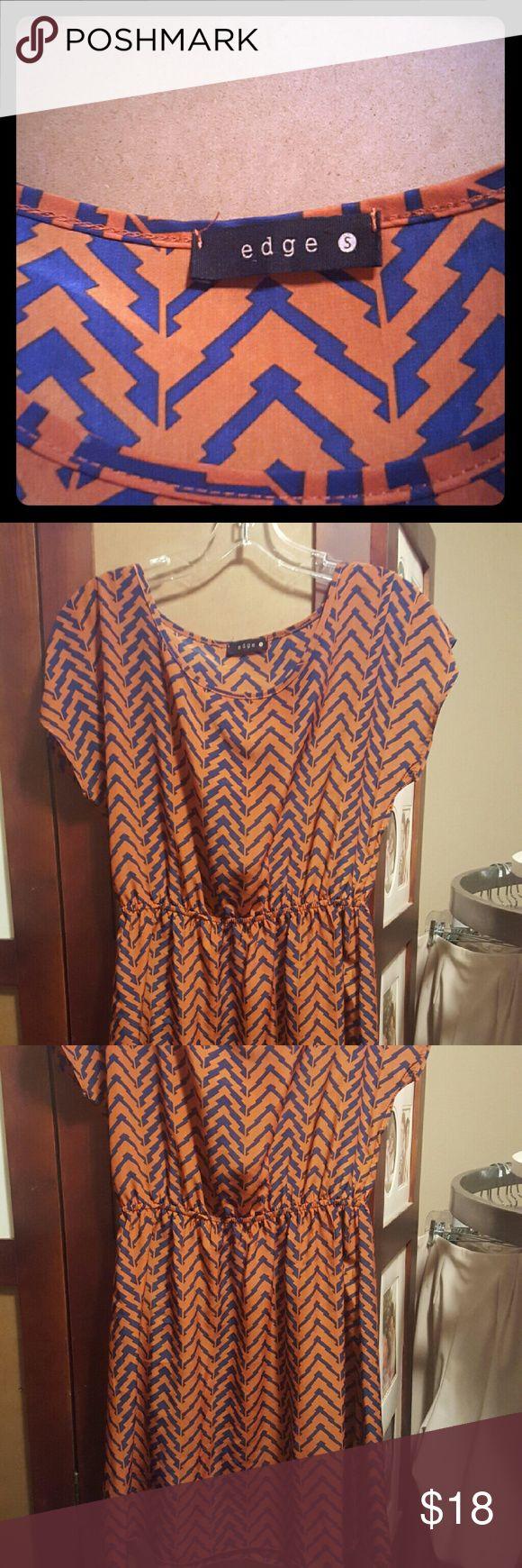 Women's clothing Tribal print edge Dresses Midi