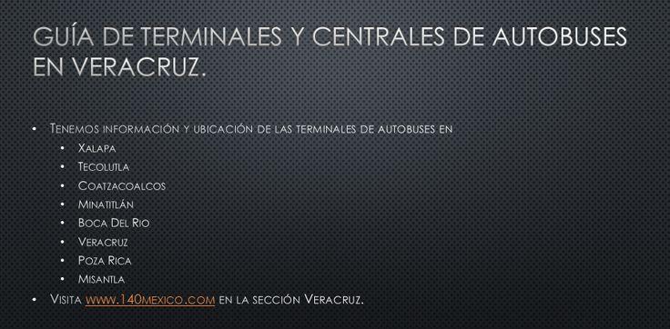 Información de las terminales y lineas de autobuses en Veracruz.