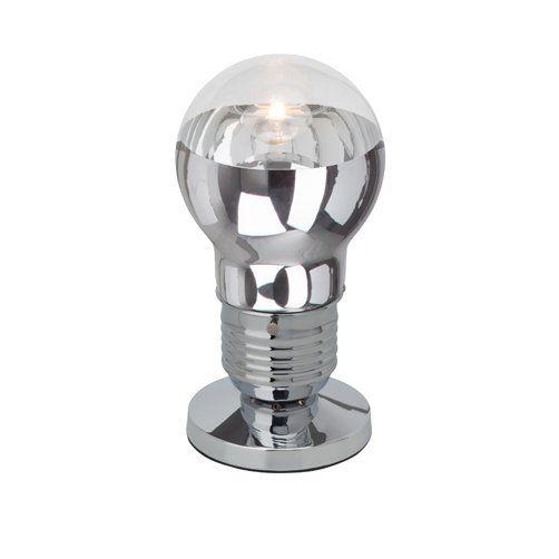 BULBY Brilliant - stolná lampa - chróm+sklo - 290mm