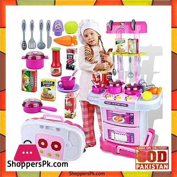 Buy 3 In 1 Little Chef Kitchen Set W097 At Best Price In Pakistan