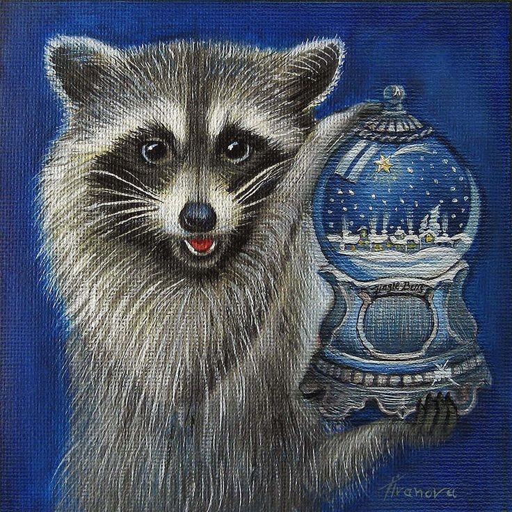 1706 best images about Raccoons on Pinterest | A tree ... Raccoon Painting