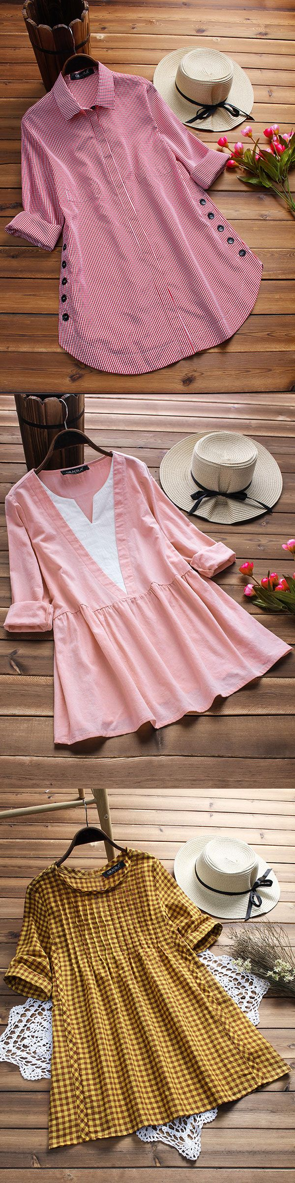 2018 summer fashion style shirts and blouses for women, casual and soft material clothes. Shop now! #shirts #tops #2018