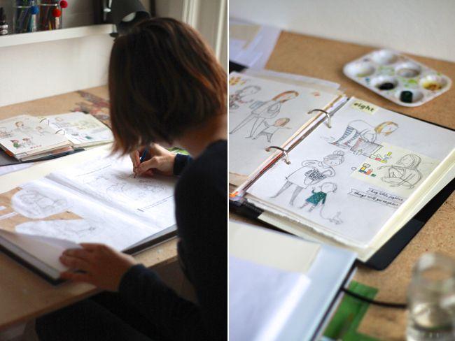 Leila Rudge's home studio. The Novocastrian Files. Photo - Siobhan Curran.