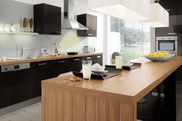 Siyah Mutfak Dolabı Modelleri 18