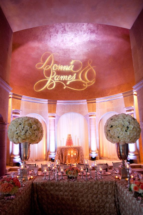 Love this setup with a #gobo #monogram at this #wedding #reception with & 29 best Uplighting images on Pinterest | 15 years Boyfriends and ... azcodes.com