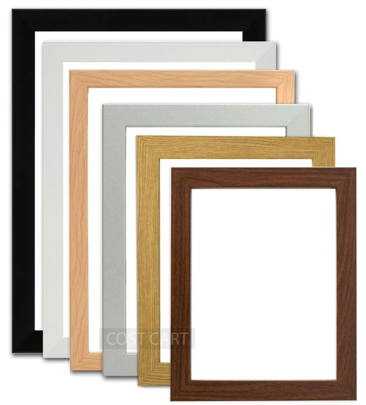 Picture Frame Photo Frame Poster Frame BLACK PINE WHITE OAK DARK OAK SILVER