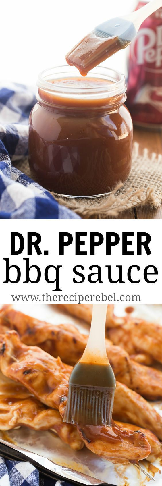 This Easy Homemade Dr. Pepper BBQ Sauce is sweet, sticky, and is great on grilled chicken, beef, pork or anything! Quit the store bought barbecue sauces and make your own! http://www.thereciperebel.com/easy-homemade-dr-pepper-bbq-sauce/