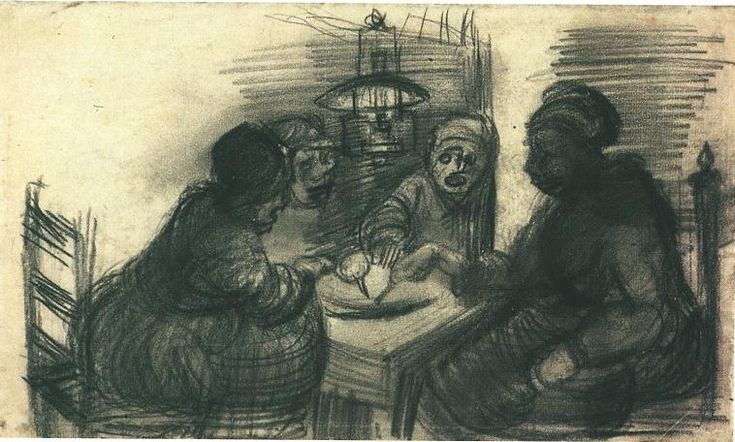 Vincent van Gogh: The Drawings (Four People Sharing a Meal, Nuenen: late March-early April, 1885)