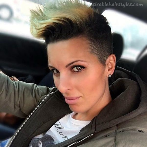 45 Sexiest Faux Hawk Hairstyle and Haircut for  - 28 #ShortHairstyles