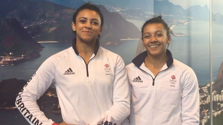 Becky, 24, and Ellie  Downie 16.  The sisters are from Nottingham and can't wait to compete as gymnastic artists in the Olympic Games