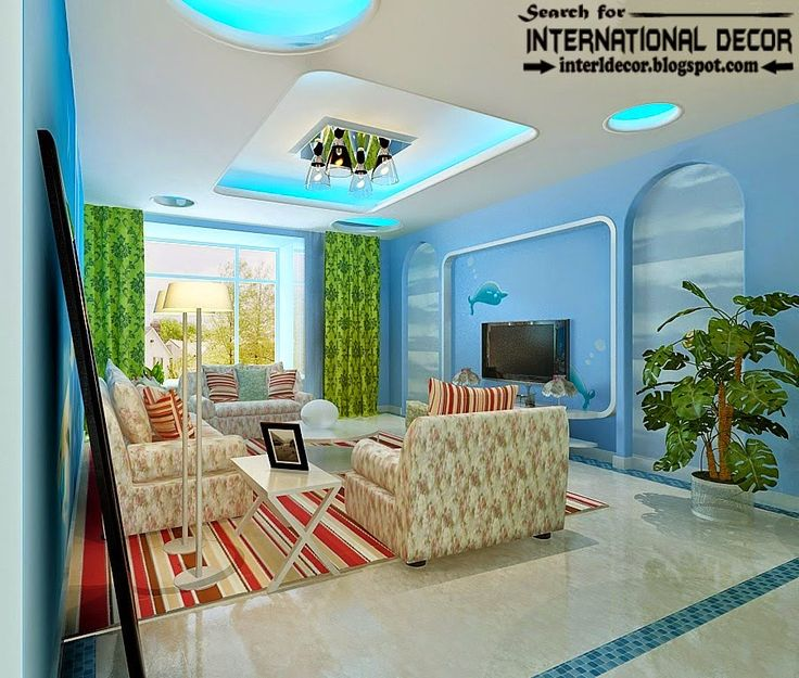 15 modern pop false ceiling designs ideas 2015 for living for International decor false ceiling