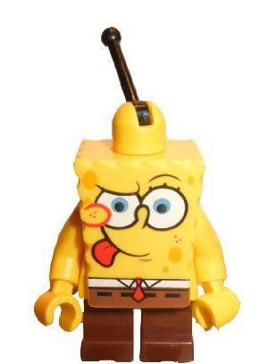 LEGO Spongebob Minifigure Intent Look by LEGO. $8.30. Comes from Mrs. Puff's Boating School LEGO Set 4982. Cute little dude.. LEGO Spongebob Squarepants Minifig with Intent Look. About 2 Inches Tall. Lego Spongebob Minifig
