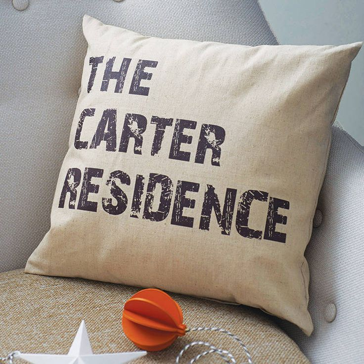 personalised home cushion by tillyanna | notonthehighstreet.com