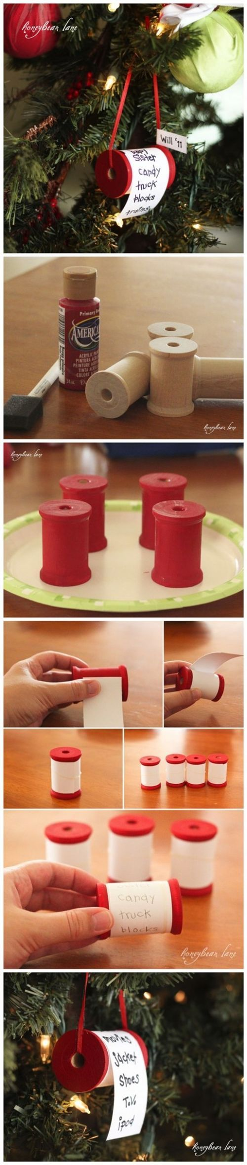 How to make X'mas wish list ornament step by step DIY tutorial instructions / How To Instructions on imgfave