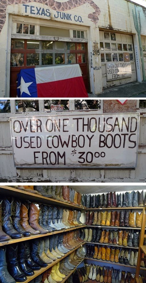 Shhhh!  It's one of Houston's Best Kept Secrets!  Cowboy boots starting at 30 bucks???  Really?  Click the image for more info.