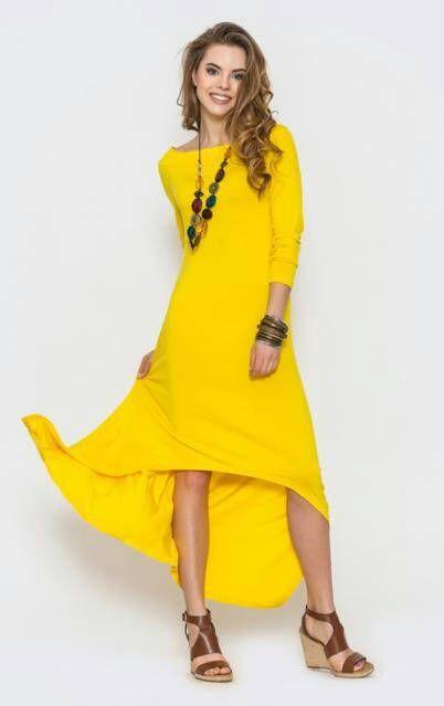 Gele lange jurk lente zomer asymmetrische jurk Fashion kleding voor vrouwen nieuwe collectie Boho jurk