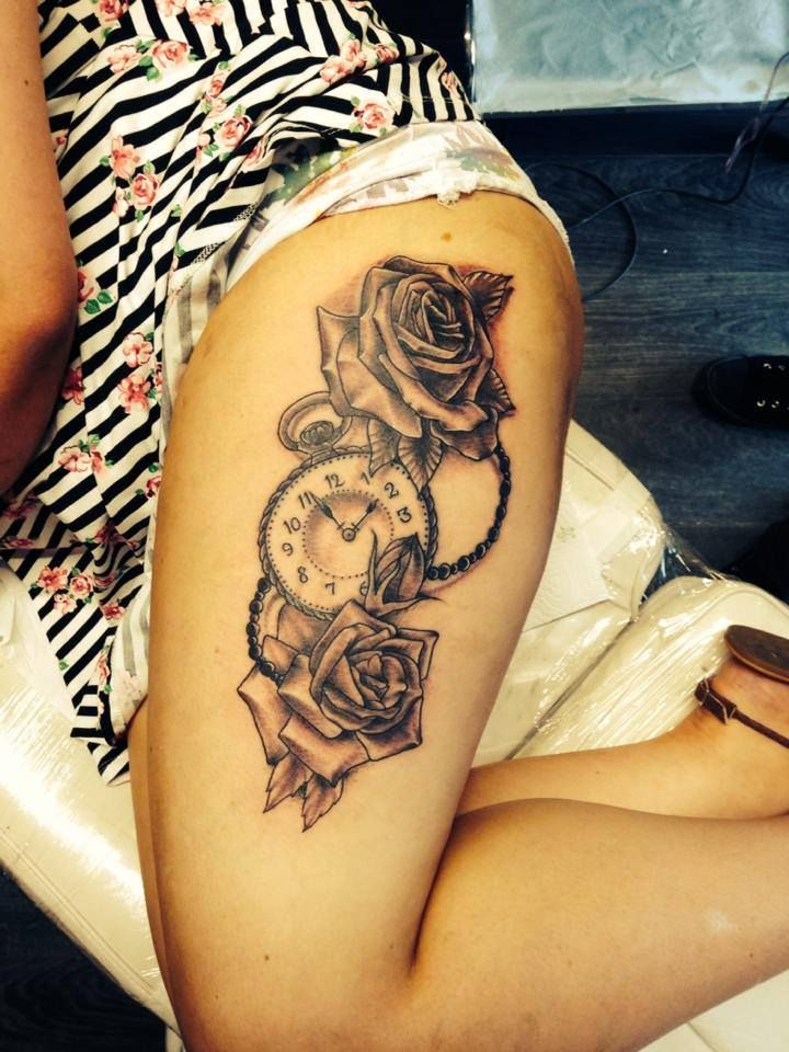 18 best bob swain new age tattoo images on pinterest for Tattoo rose on thigh