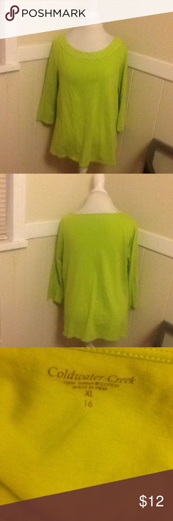 Cold water creek lime green shirt Cold water creek lime green shirt in new condition Coldwater Creek Tops Blouses