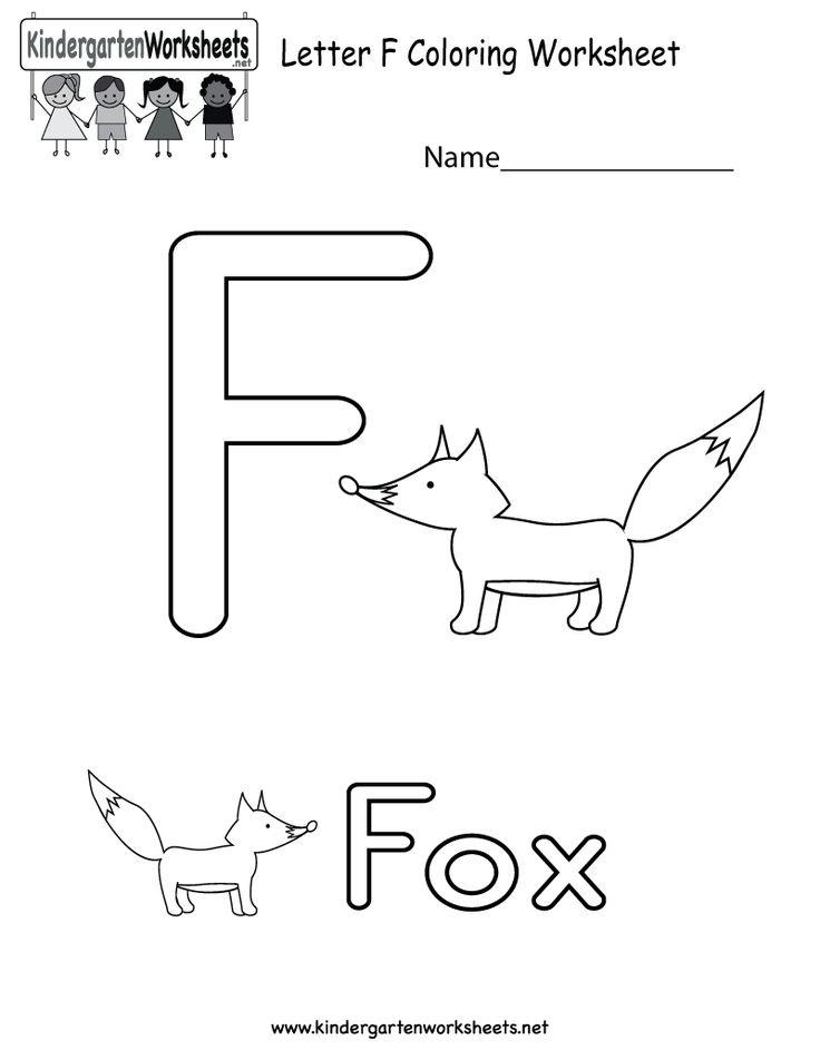 Letter F Coloring Pictures : 54 best alphabet worksheets images on pinterest