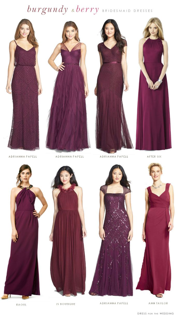 Best 25 burgundy bridesmaid ideas on pinterest winter wedding burgundy mismatched bridesmaid dresses ombrellifo Image collections