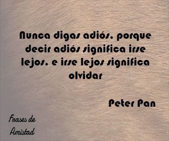 Frases de disney de Peter Pan