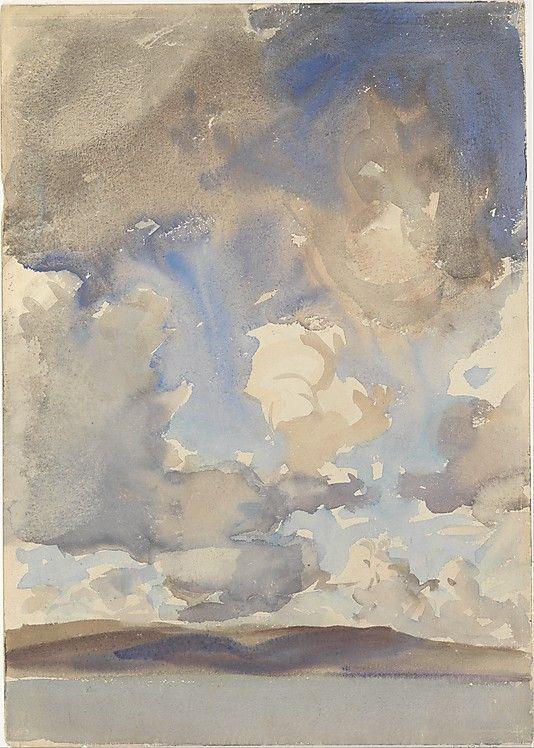 John Singer Sargent (American, Florence 1856–1925 London) Clouds