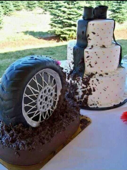What a cool wedding cake!
