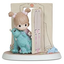 ''Everything Is Less Scary with a Friend'' Disney Girl with Sulley Figurine by Precious Moments