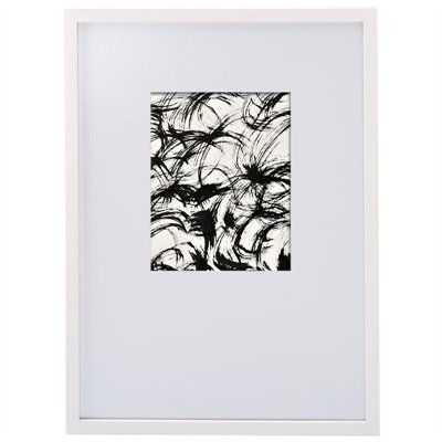 white gallery frame for 8 X 10 vertical print. asymmetrical mat, wider at bottom. #StyleYourWall