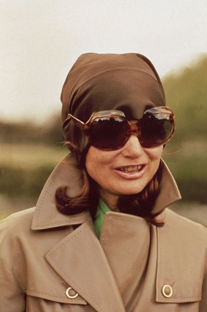 "toryburch: ""I is for In the Shade Above: Jacqueline Kennedy Onassis looking chic in her signature tortoise sunglasses. Photographed by Jacques Dejean/Sygma via Getty Images """