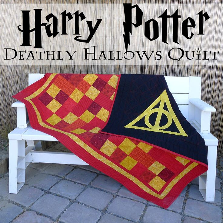 Pieces by Polly: Deathly Hallows Gryffindor Quilt - Harry Potter Inspired