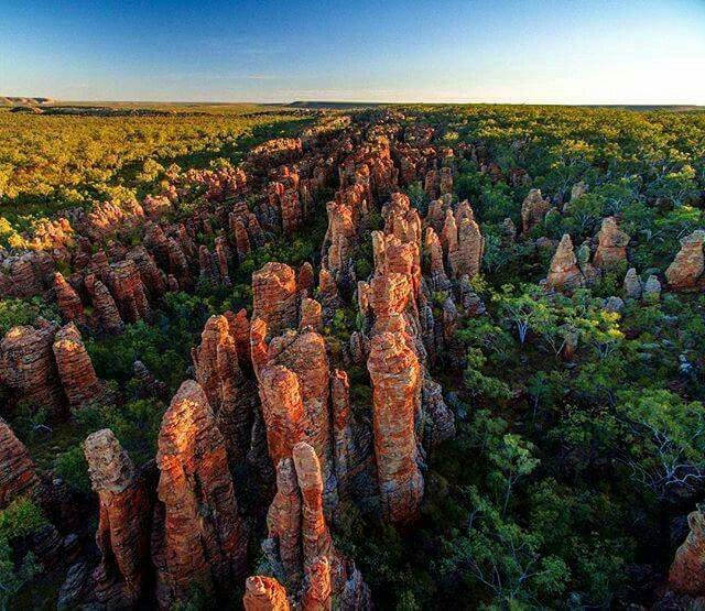 Rock formations known as the 'Lost City' in Limmen National Park, The Northern Territory. Photo credit : @mitch.cox