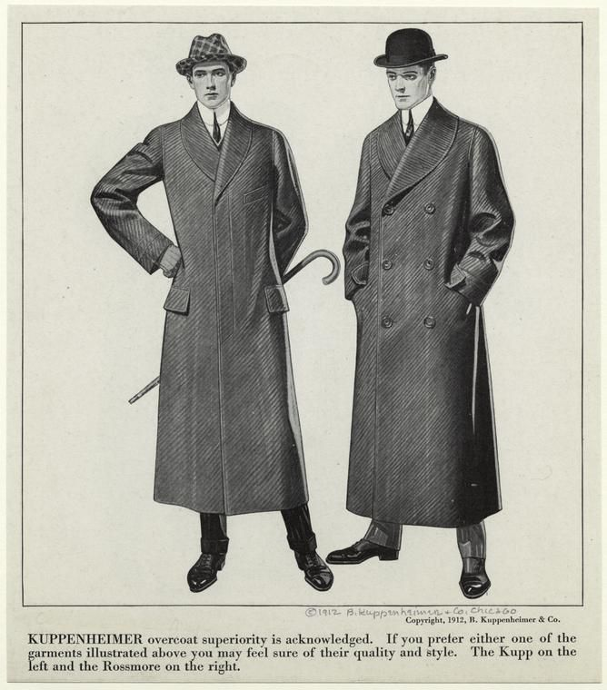 wearing overcoats united states 1910s