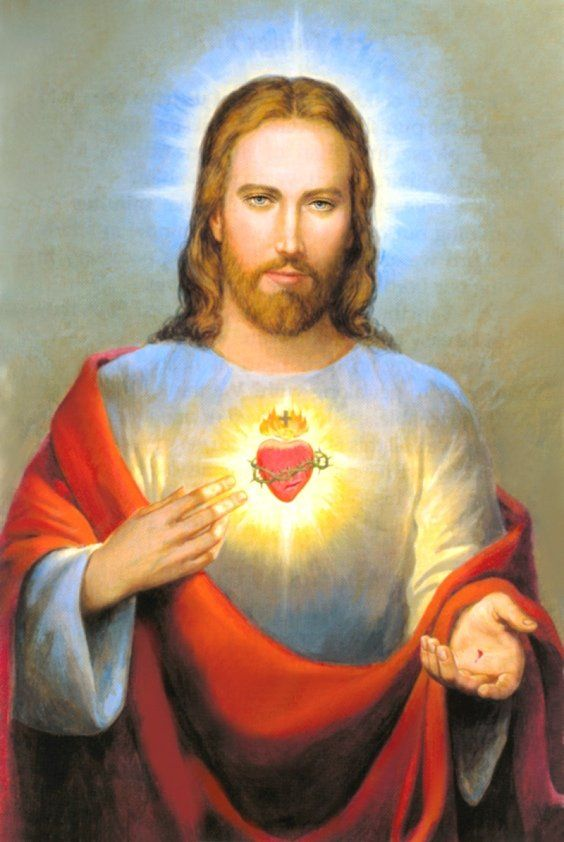 Sacred Heart of Jesus my grandmother had a picture similar to this one in her sewing room- it always brought me solace
