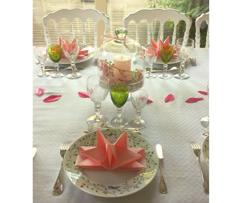 Table de cérémonie, communion organisée et réalisée par Laurence www.mesabella.fr