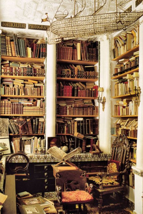 """scullyandscully: """"Home library of Laure Welfling and her husband Gee Pee; photo by Roland Beaufre for World of Interiors, August 2008"""" Bookworm"""