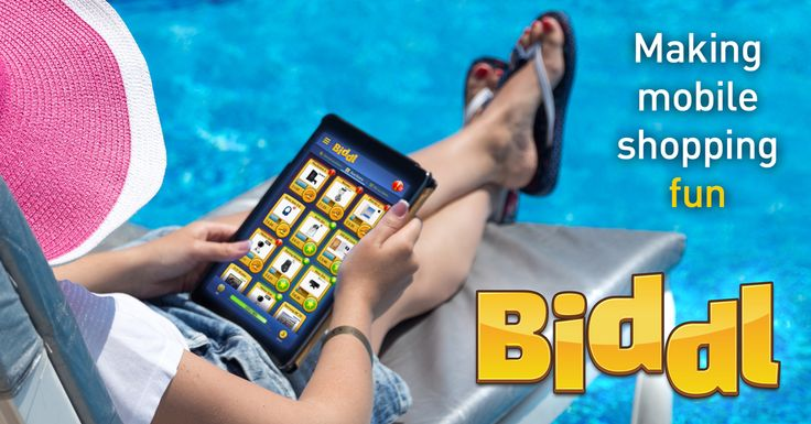 Play and shop whenever and wherever you want with Biddl!