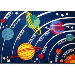 Fun Rugs Fun Time Solar System Classroom Kids Rug   Wayfair