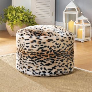 """by Accent Plus Let your wild side show! This fuzzy and comfortable ottoman is covered in snow leopard print, which can really liven up your living room or den. Sit back and put your feet up on this comfy accessory that also makes a great extra seat when company comes calling. 18"""" x 18"""" x 13"""" allgooddecor.com  #allgooddecor #furniture #decor #candles #mirrors #figurines #fountains #lighting #outdoor #accents #decorations #gifts #toys"""