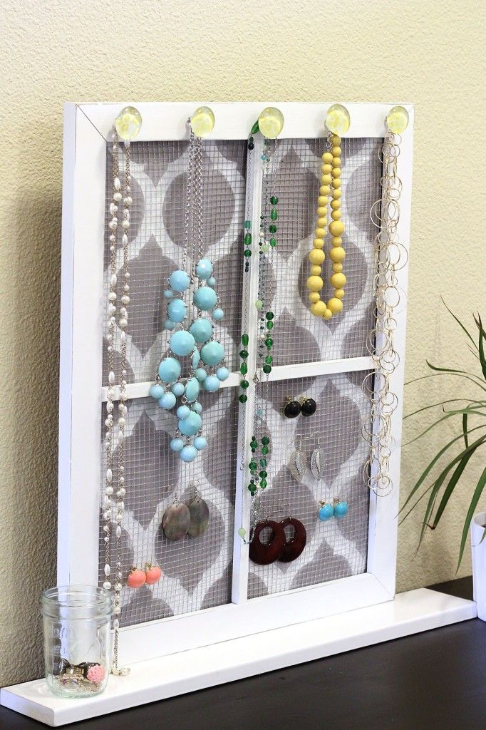 189 best DIY Jewelry Stands images on Pinterest Organizers