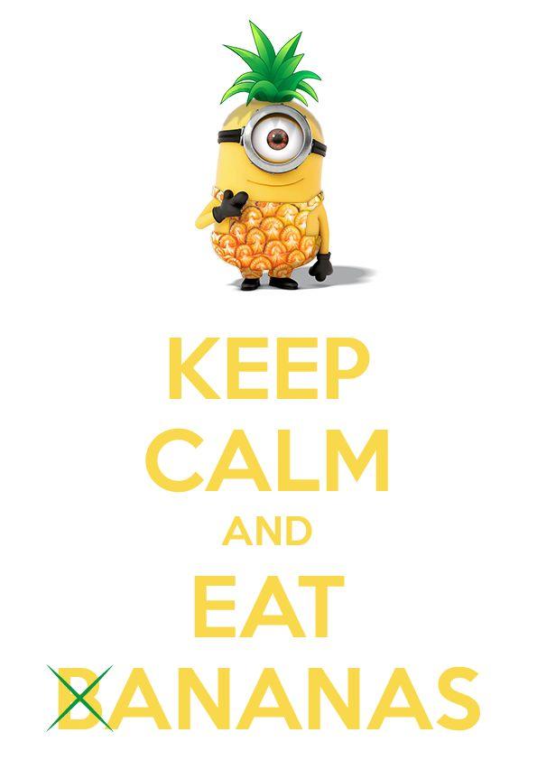 Comme le dernier opus des minions sort cette semaine, c'est l'occasion pour moi de vous proposer une affiche minion qui mêle deux choses qui me plaisent : à savoir les ananas et les minions.
