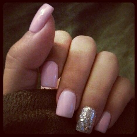 LOVE-silver and baby pink gel nails! | Nails! | Pinterest | Pink ...