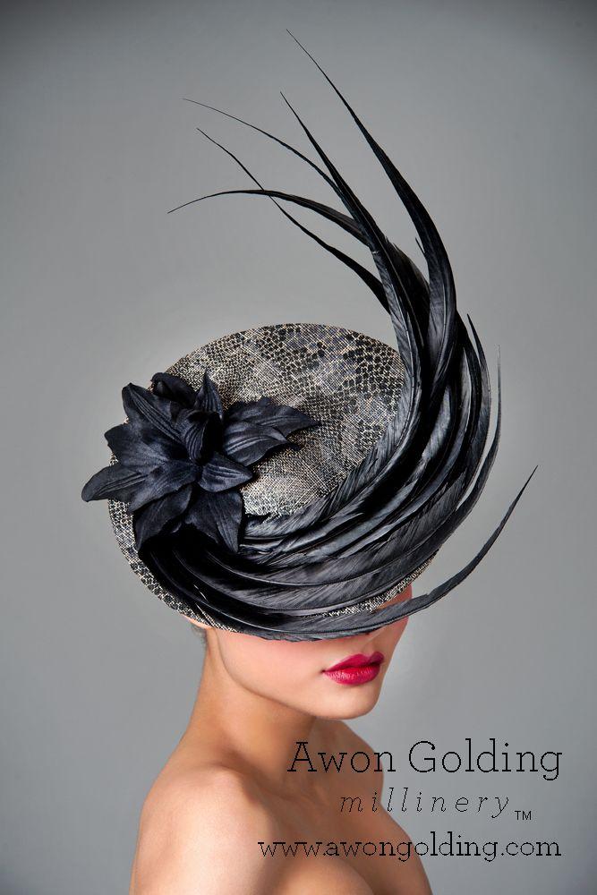 Snake skin swirl - Awon Golding Millinery  www.awongolding.com    #hats #millinery