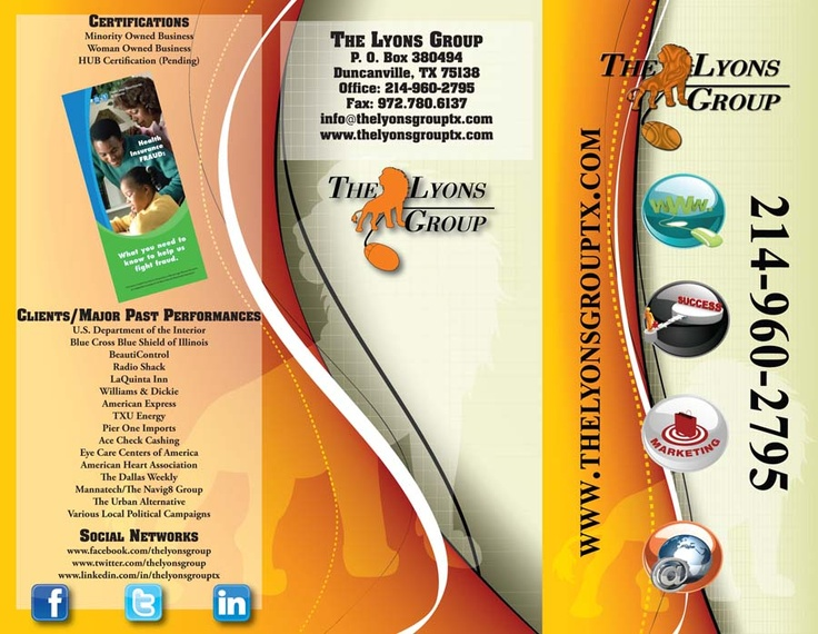 Our Brochure Design\/Print-Outside Portfolio Pinterest Brochures - political brochure