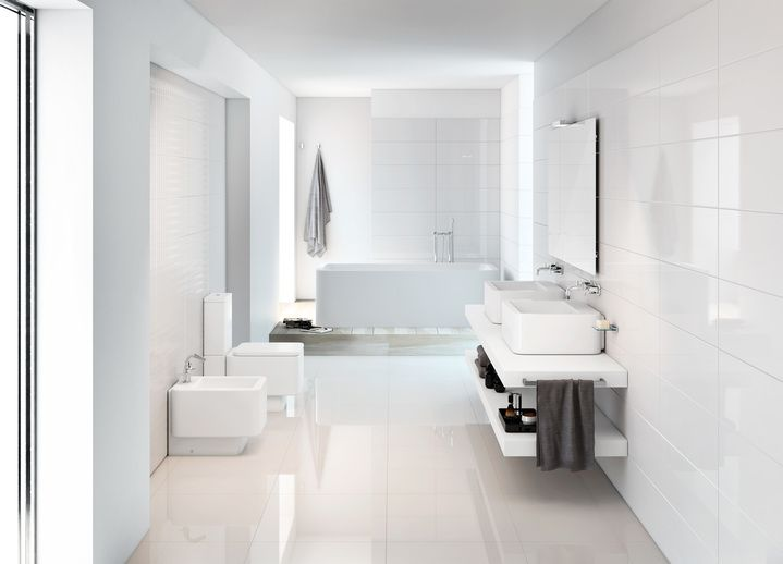 Forceful, compact and rational. The architect David Chipperfield has drawn up a geometrical, pure, distinct and radical design. Thanks to the simplicity of its lines and his comprehensive plan for the bathroom, this collection can easily coexist with the different stylistic registers that are required of contemporary interior decorating.