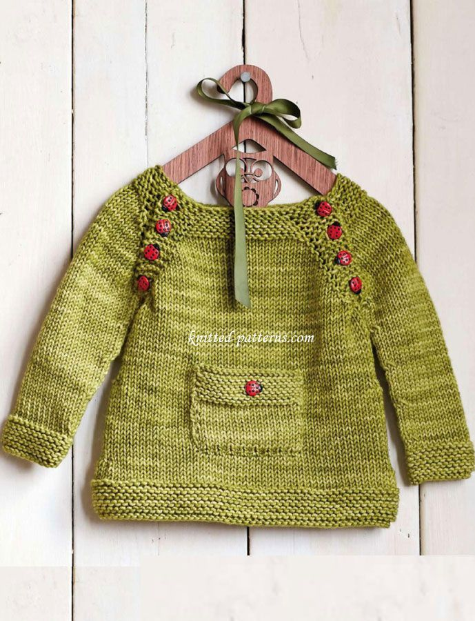Knitting Tools For Kids : Pullover for kids ladybird on a leaf by nikki van de car