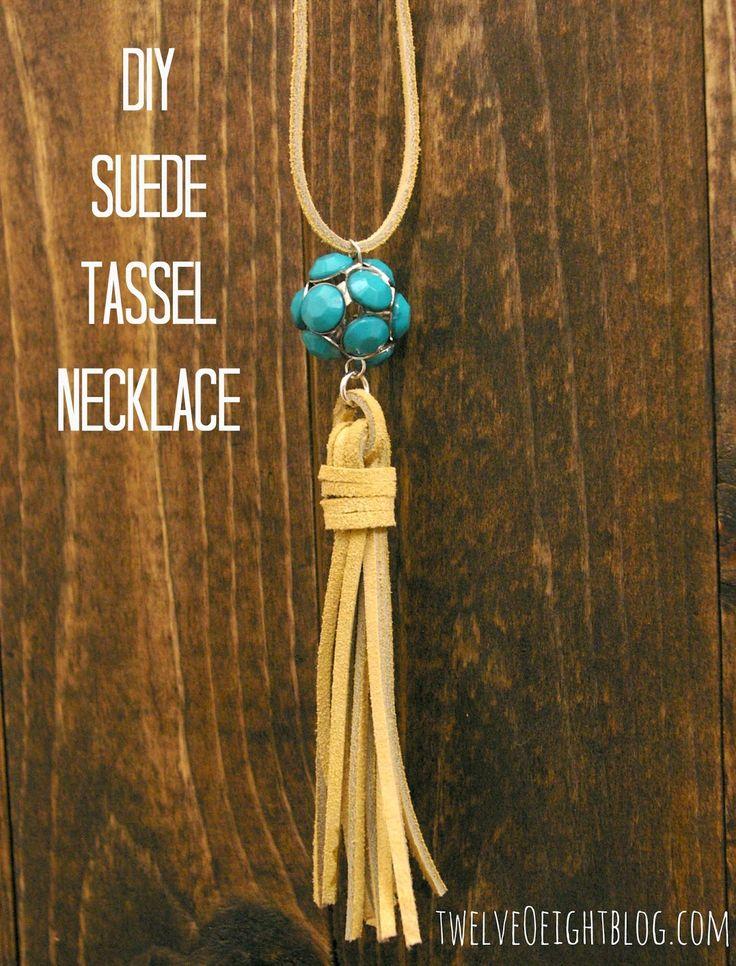 DIY Suede Tassel Necklace