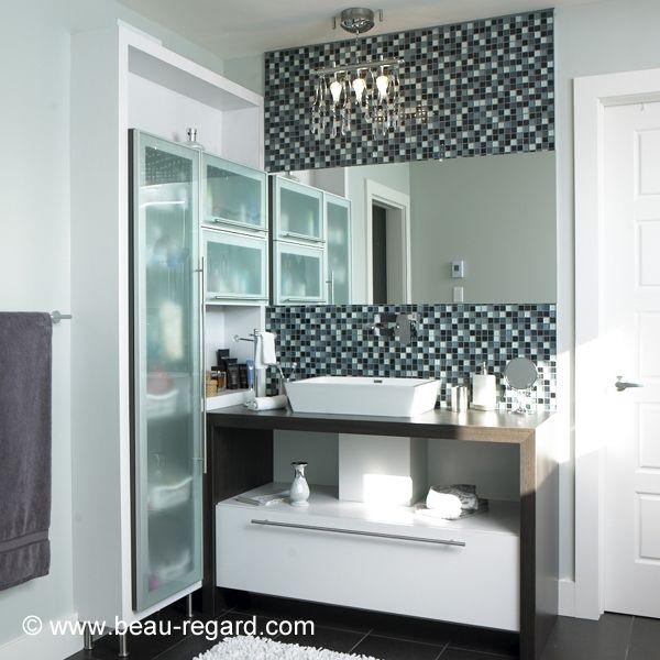 Armoire de salle de bain melamine style urbain meuble for Meuble urbain